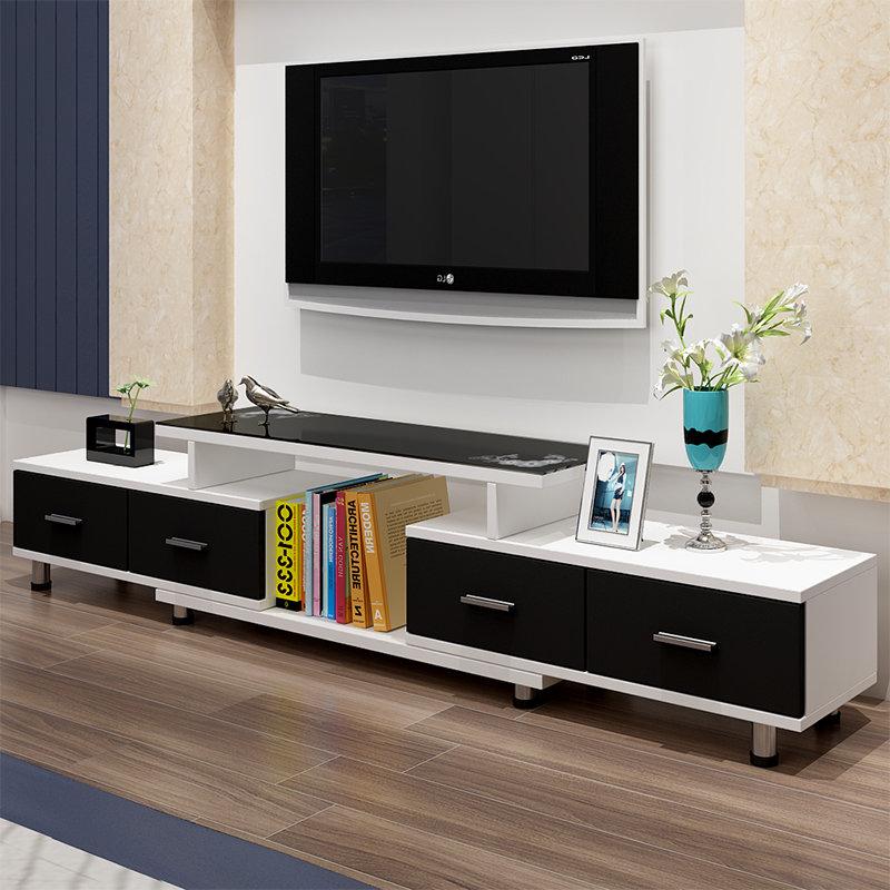 悠佰 现代简约电视柜欧式钢化玻璃伸缩电视机柜小户型