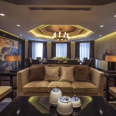 东易日盛 威海店 别墅装修设计 室内家庭装修 中式风格装修效果图(1)