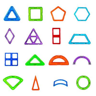 积木风格圆形矢量图