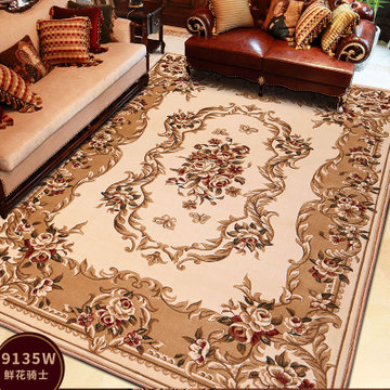 龙禧 欧式家用客厅长方形茶几地毯 卧室床边大地毯床前毯(9135w)