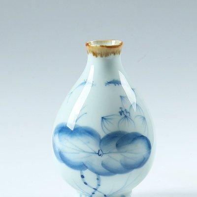 关耳窑 手工绘画青瓷大花瓶 陶瓷工艺品花插 陶瓷摆件