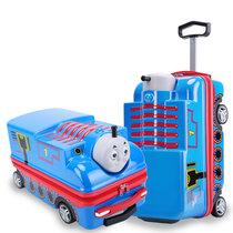 迪?#21355;?立体3D儿童拉杆箱?#20449;?#31461;动漫旅行箱?#34892;?#23398;生个性行李箱可坐骑20寸出游密码箱(蓝色)